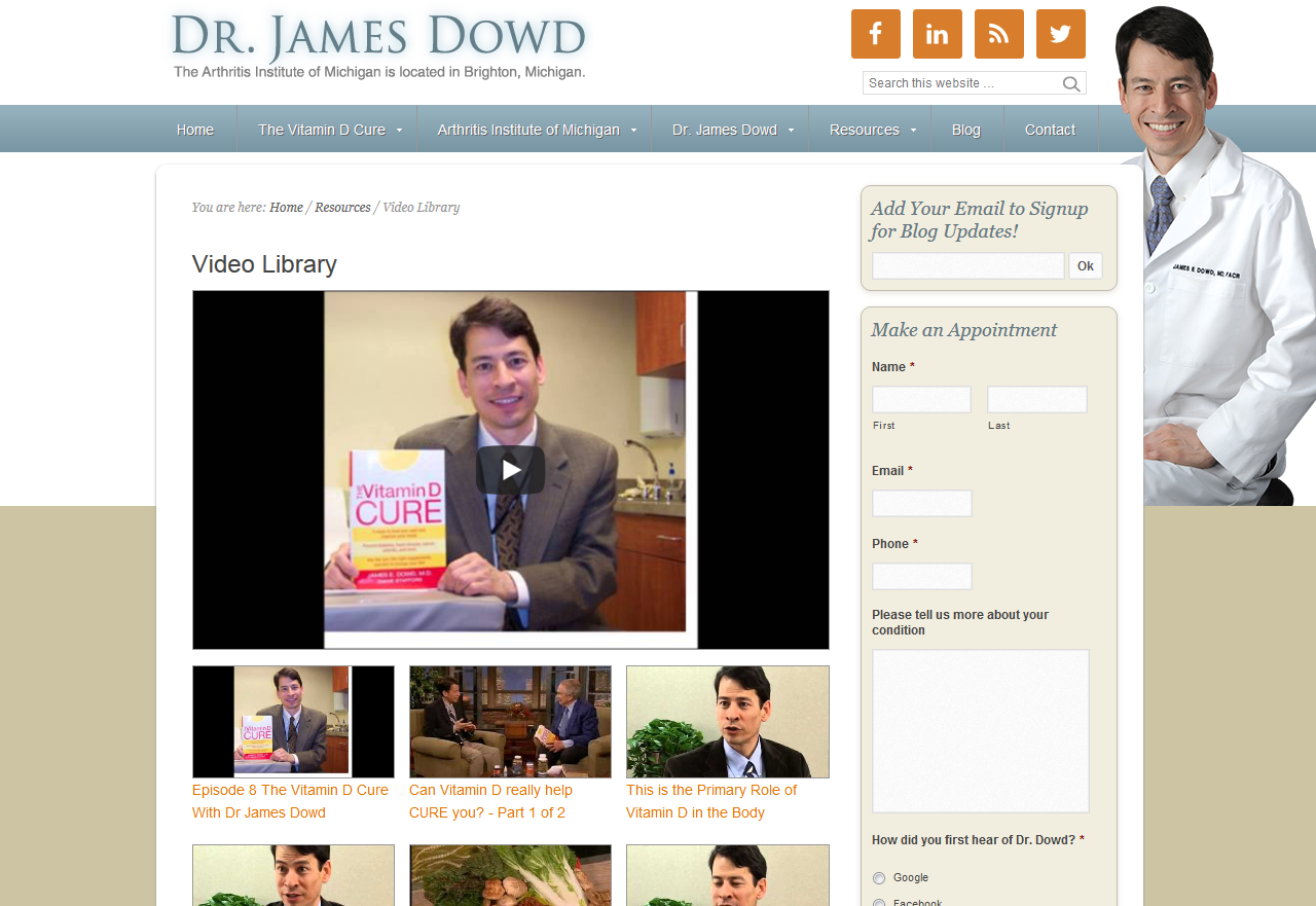 Check Out Dr. Dowd's Video Library